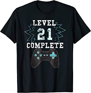 21st Birthday Video Game Humor Tee Funny Gamer Gifts T Shirt