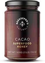 Beekeeper's Naturals Superfood Cacao Honey - Raw Honey with Organic, Raw Ecuadorian Cacao, Filled with Antioxidants, Iron ...