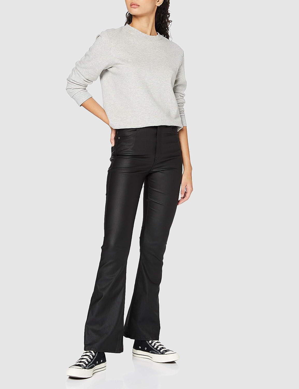 Dr. Denim Moxy Flare Jeans Femme Métal Noir