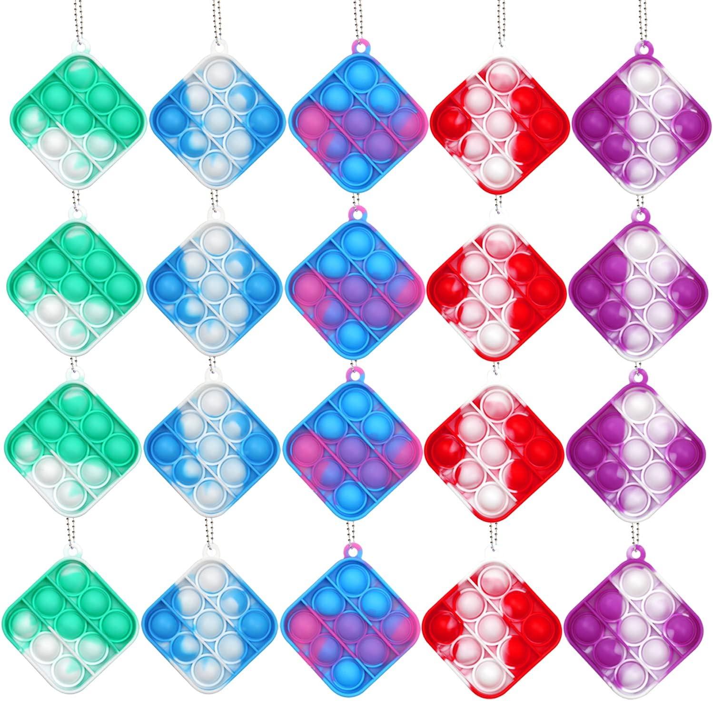 Hignut 20 Pack Mini Pop Super sale period limited Bubble Rainb Sensory Toy Quantity limited Fidget Silicone
