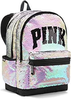 victoria's secret pink gold backpack