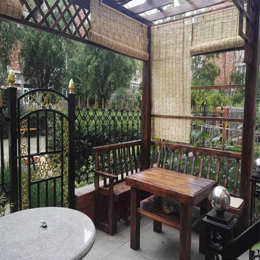 WY Reed Cortina de bambú Oculto de la Ventana Rueda for Arriba un persianas Verticales Retro Rising Decorativo Cortina Tea Room, Gazebo, Personalizable (Color : A, Size : 70X80CM(28×32IN)): Amazon.es: Hogar