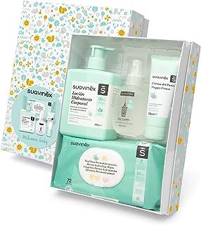 Suavinex – Canastilla de cosmética para bebéCanastilla de regalo para recién nacido. Crema pañal 75ml + Loción hidratante...