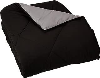 AmazonBasics Reversible Microfiber Comforter Blanket - Twin or Twin XL, Black