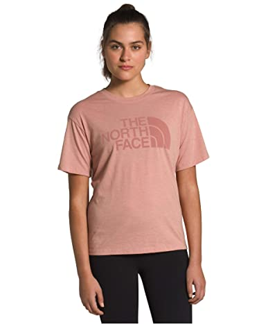 The North Face Half Dome Short Sleeve Tri-Blend Tee (Pink Clay Heather) Women