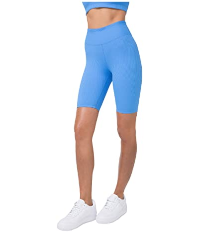YEAR OF OURS Ribbed Biker Shorts (Club Blue) Women