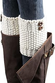 Women's Girl's Knit Button Leg Warmer Boot Cuffs Socks Cover