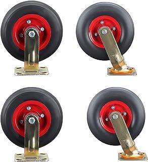 YJJT Vervangend wiel, Heavy Duty Caster, Industriële wielen dubbele lagers, antislip en stil, stil en arbeidsbesparend, 8 ...