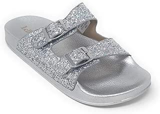 LK 9910 Elga Slides Sandals in Silver