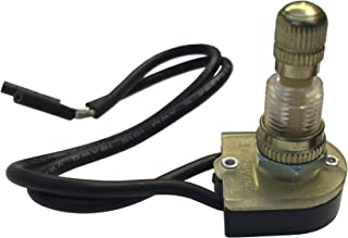 Gardner Bender GSW-61 Electrical Rotary Switch, SPST, ON-OFF, 6 A/125V AC, 6 inch Wire Terminal