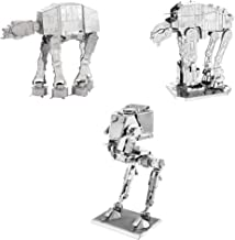 Fascinations Metal Earth 3D Metal Model Kits Star Wars Walker Set of 3 - at-at - at-ST - at-M6 Heavy Assault Walker