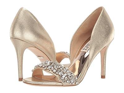 Badgley Mischka Ivy (Platino Metallic Suede) High Heels