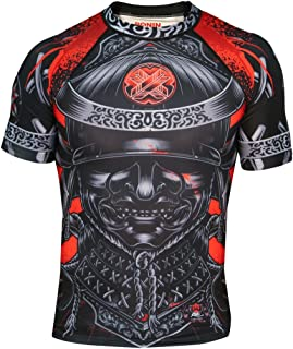 Ronin Samurai Blackout Ghost Base Layer Compression Shirt for BJJ MMA Grappling