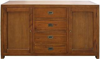 Aparador con 4 cajones y 2 puertas de madera abatibles Dua
