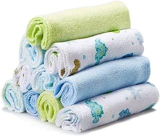 Spasilk Washcloths, Blue Dino, 10-Count