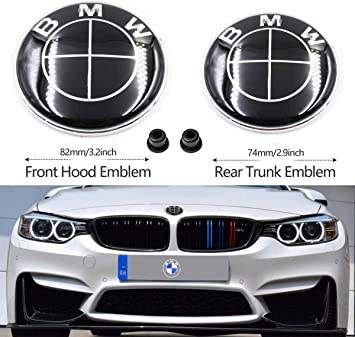 74mm BMW Logo Replacement for ALL Models BMW E46 E30 E36 E34 E38 E39 E60 E65 E90 325i 328i X3 X5 X6 1 3 5 6 7 BMW Emblems Hood and Trunk 82mm