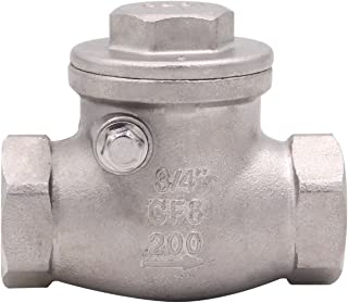 3/4 Inch Swing Check Valve - WOG 200 PSI Stainless Steel SS304 CF8M NPT