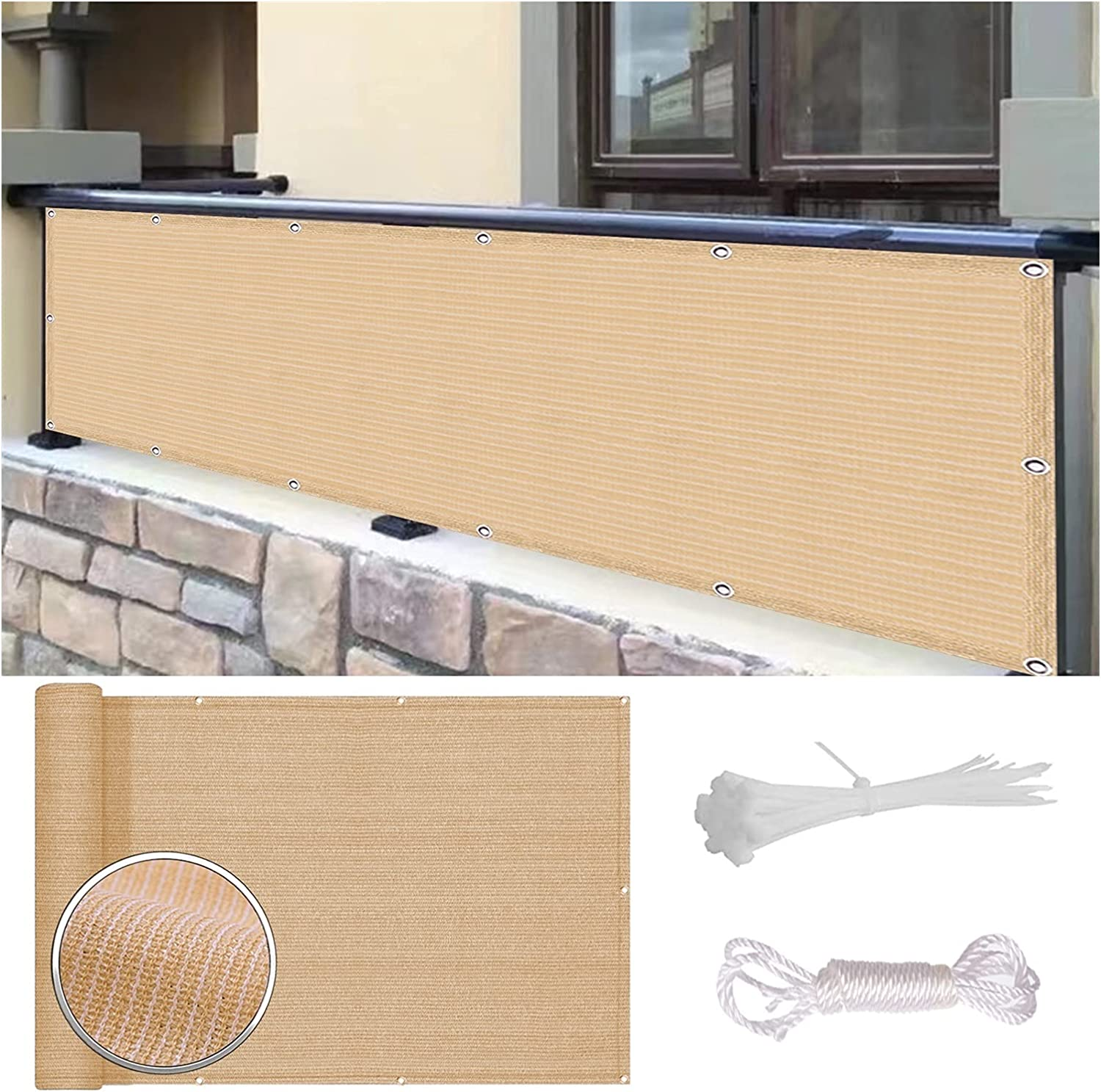 WUZMING Balcony Privacy Max 42% OFF free Protective Screens Network HD Wind Fence