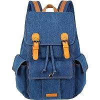 VBG VBIGER Vintage Canvas Leather Backpack