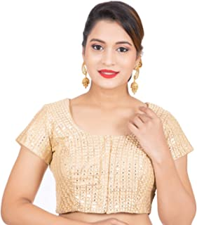 Womens Embroidered Readymade Saree Blouse