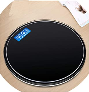 Round Bathroom USB Smart Weighing Scale Body Weight Measure Digital Mi Bascula Digital Peso Corporal Black