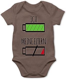 Shirtracer - Strampler Motive - Ich und Meine Eltern Batterie - Baby Body Kurzarm für Jungen und Mädchen