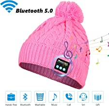 Sminiker Bluetooth Beanie Hat Ideal Stocking Stuffers Wireless Headphone Rechargeable Washable Musical Beanie Hat with Bluetooth V5.0 for Winter Outdoor Sports & Christmas Gifts for Men/Women