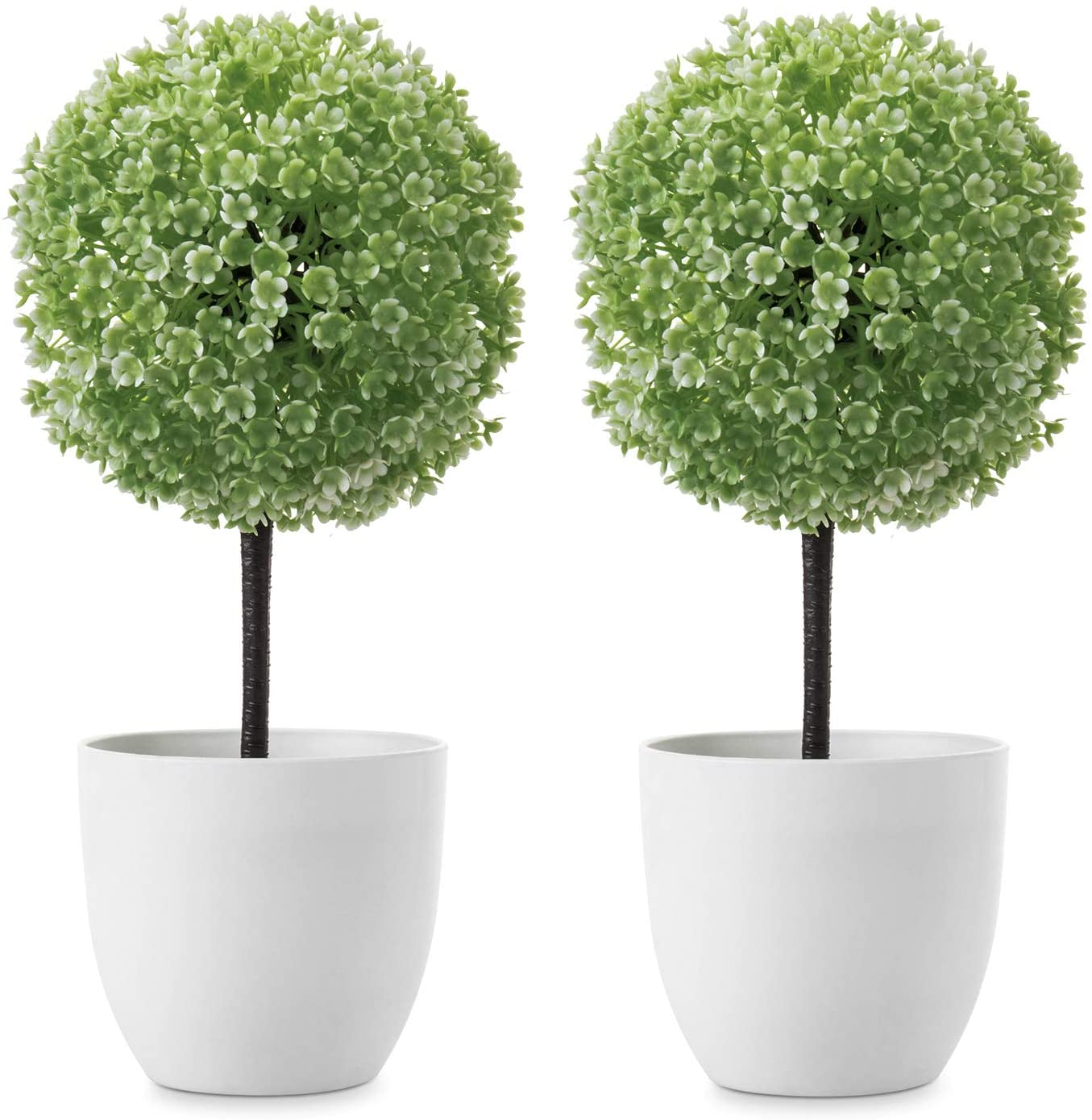 MyGift Cash special price 10 inch Artificial Faux Tabletop NEW before selling Pl White w Trees Topiary