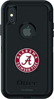 Fan Brander NCAA Black Phone case with School Logo, Compatible with Apple iPhone X and Apple iPhone Xs and with OtterBox Defender Series