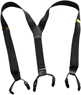 HoldUp Suspender Company new Black Pack dual clip Double-Up Style Suspenders with black patented no-slip clips