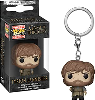 Funko Tyrion Lannister: Game of Thrones x Pocket POP! Mini-Figural Keychain + 1 Official Game of Thrones Trading Card Bundle [34911]
