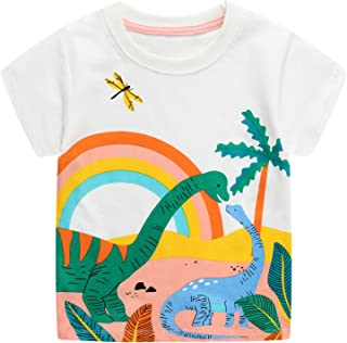 JinBei Camiseta Bebé Niño Manga Corta Algodon Camisetas Elegante Verano Casual Dibujos Chico Sudadera 1 2 3 4 5 6 7 Años