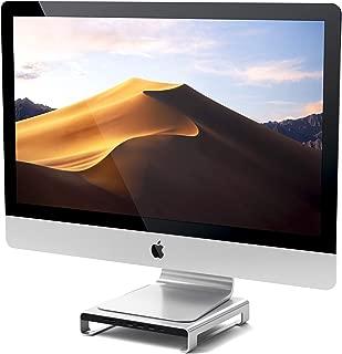 Satechi Type-C アルミニウム iMac スタンド USB-Cデータ USB 3.0 Micro/SDカードスロット 音声ジャック (iMac Pro, 2016/2017 iMacなど対応) (シルバー)