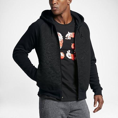 Nike AJ 3Fleece FZ sweat à capuche Sweat-Shirt pour Homme, Couleur Noir L Noir (Charcoal Heathr Dark gris)