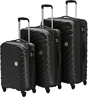 AT by Samsonite - 3-Piece Hardside ABS Trolley Luggage Set (22, 27 & 31 Inch) - Storm Black