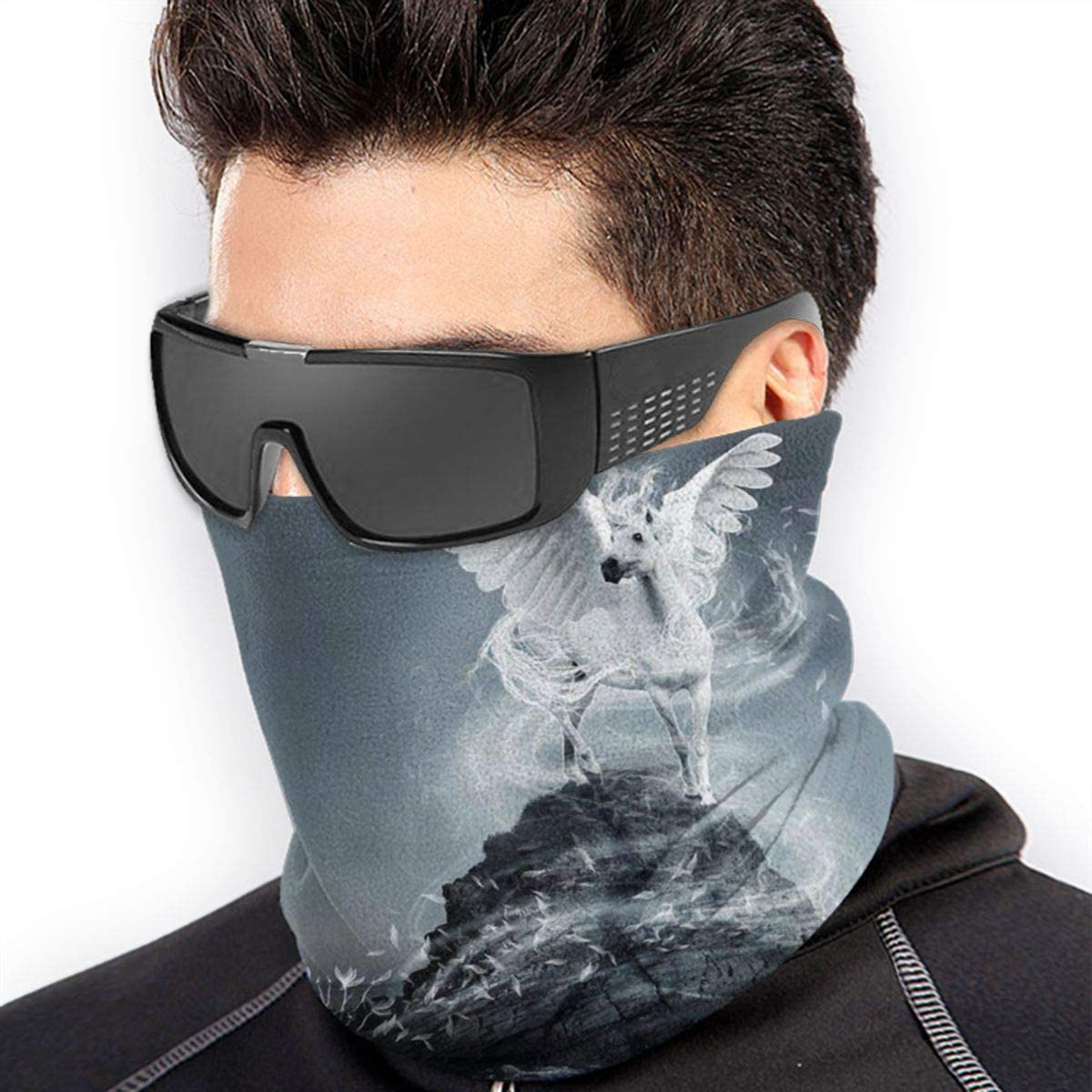 Pegasus Neck Gaiter Headwear Headband Head Wrap Scarf Mask Neck/Ear Warmers Headbands Perfect For Winter Fishing, Hiking, Running, Motorcycle Etc& Daily Wear For Men And Women