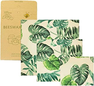 Visual Touch Palm Leaves Beeswax Wrap Assorted Sandwich Pack Eco Friendly Beewax Wrapping Reusable Food Wraps Food Storage
