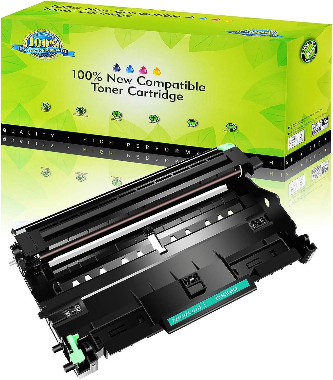 NineLeaf Compatible Drum Unit Replacement for Brother DR360 DR 360 DR-360 DCP-7040 DCP-7030 MFC-7840W MFC-7340 MFC-7440N HL-2140 HL-2170W HL-2150N Printer (Black,1 Pack)