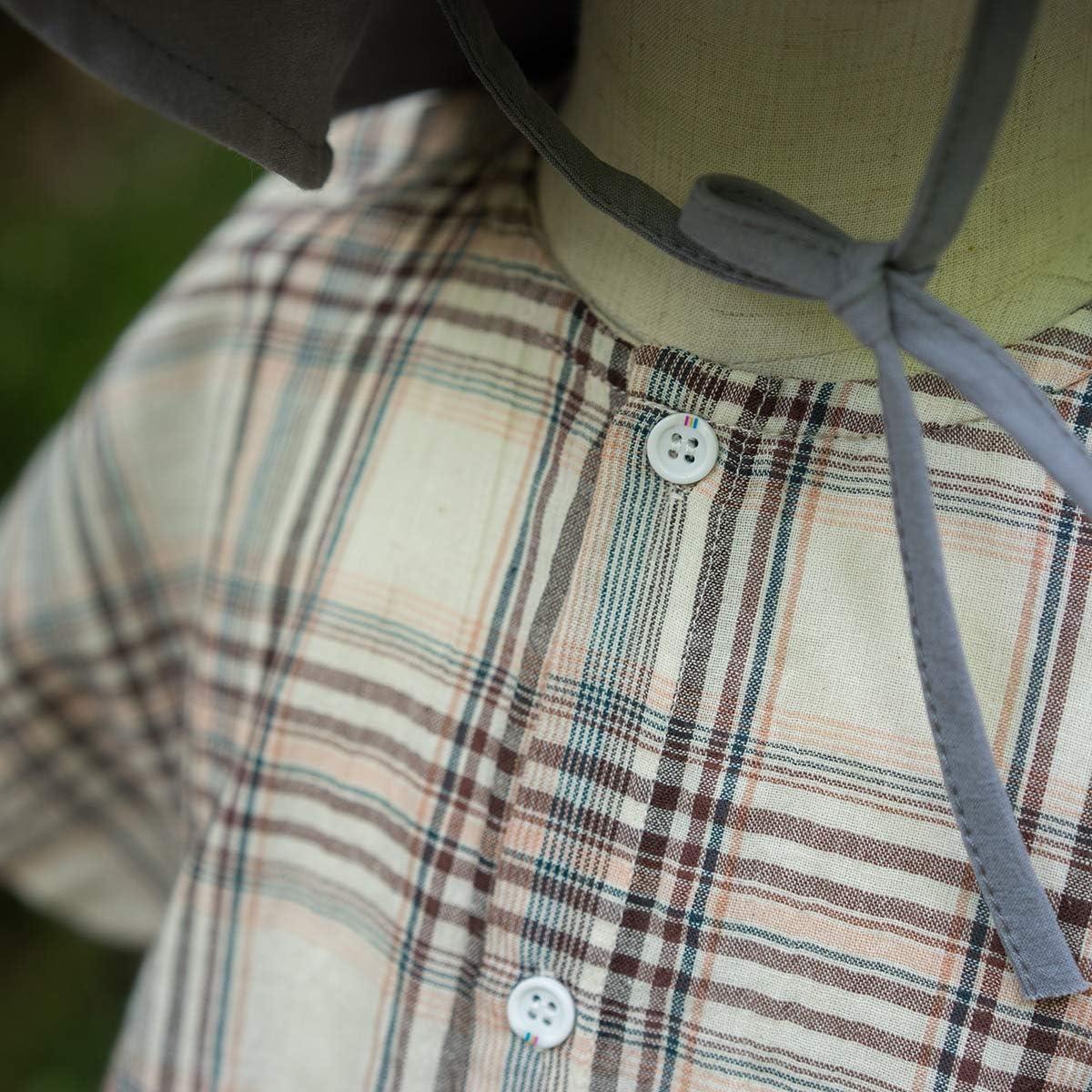 Mason Island Toddler Kids Boys' Short Sleeve Button Down Shirt Girl'Loose Plaid Shirts
