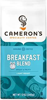 Cameron's Coffee Roasted Ground Coffee Bag, Breakfast Blend, 12 Ounce