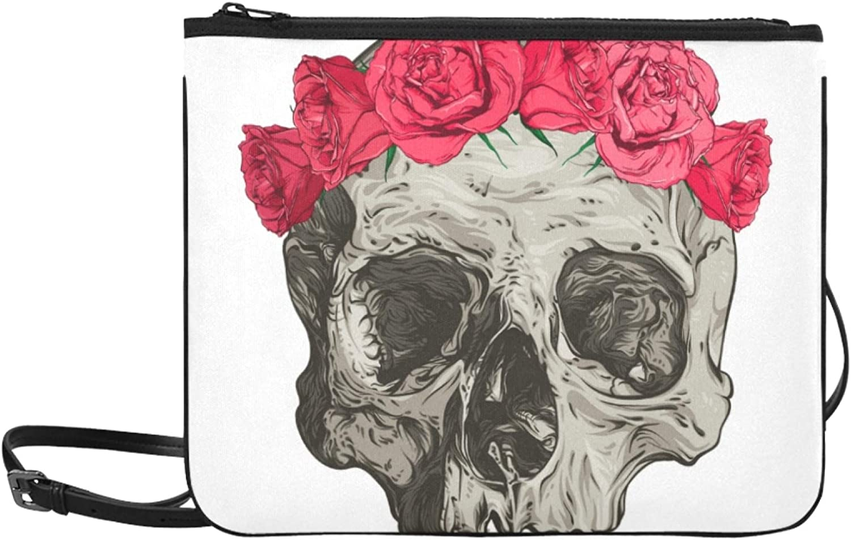 Color New life Crossbody Bags Colorful Cute Popular standard Flower Skull Adjustable Sugar