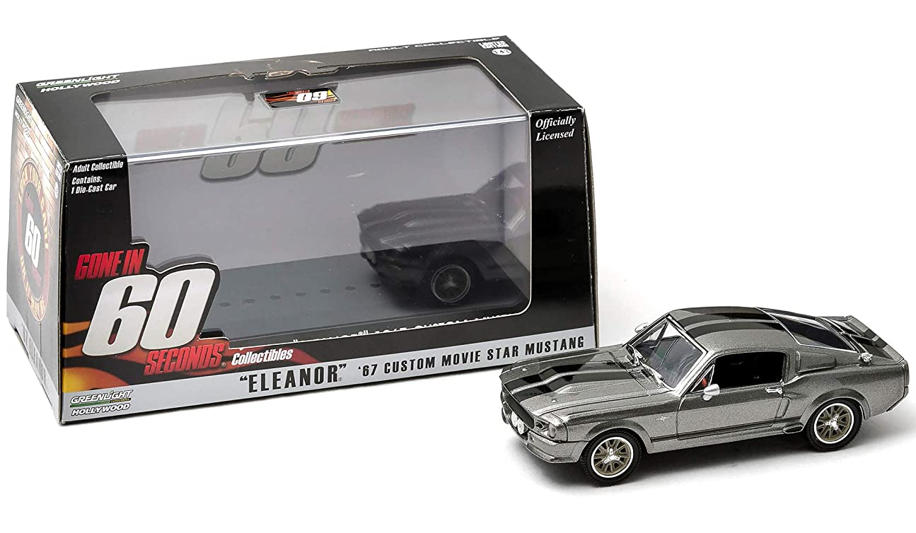 現実こどもの日花嫁Greenlight 86411 1967 Ford Shelby Mustang GT500 Eleanor Gone in Sixty Seconds Movie 2000 1-43 Diecast Car Model