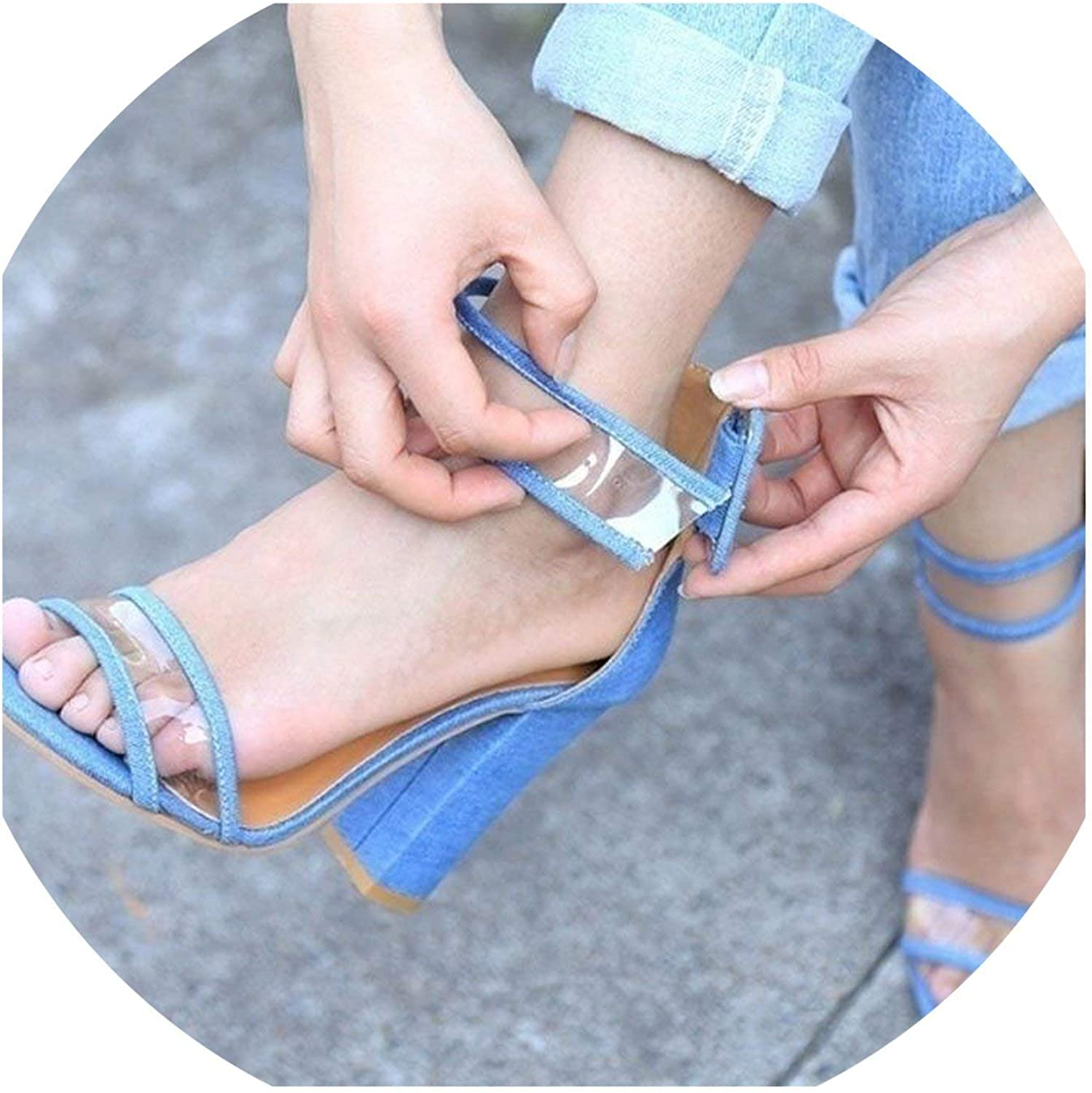 Houfeoans 5 colors Spring Women Sexy Sandals Dating shoes Women High Heels Western Stylish