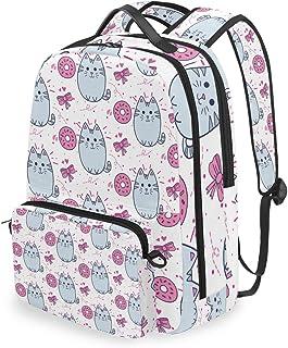 Mochila con bolsa cruzada desmontable, bonita mochila para computadora de gato, bolsa de libro para viajes, senderismo, acampada
