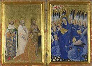 Oil Painting 'English Or French - The Wilton Diptych (1),about 1395-9' 16 x 22 inch / 41 x 57 cm , on High Definition HD canvas prints is for Gifts And Home Office, Kitchen And Laundry Room Decoration