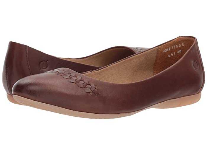 Born  Madeleine (Red/Brown Full Grain Leather) Womens Flat Shoes
