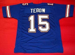 TIM TEBOW BLUE FLORIDA CUSTOM STITCHED NEW FOOTBALL JERSEY MEN'S XL