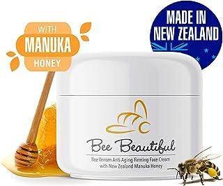Bee Venom Anti-Aging Face Firming Cream by Bee Beautiful, New Zealand Made, 100% Natural Manuka Honey, Better than Moistur...