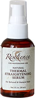 RESILIENCE NATURAL HAIR THERMAL STRAIGHTENING SERUM (HEAT PROTECTANT) with MOROCCAN ARGAN OIL 2FL OZ