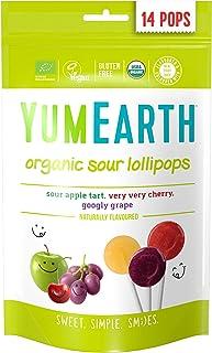 Yum Earth Organic Sour Pops, 14 x 85 gm